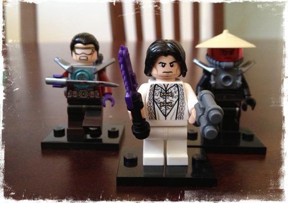 The villains - Guild marine, Shogun Yoritomo, and a Lotusman
