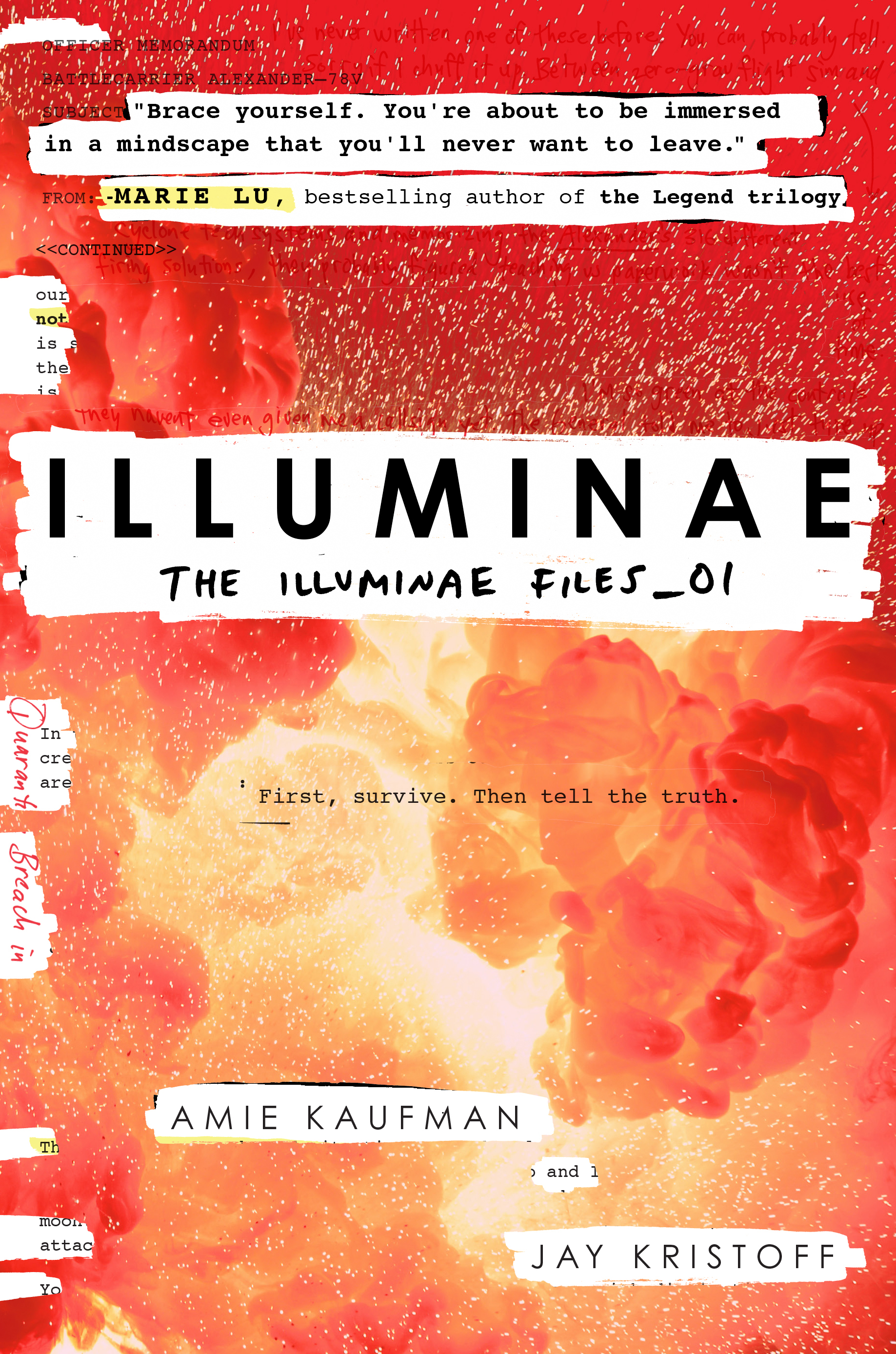 Illuminae by Amie Kaufman and Jay Kristoff -  The 29 Best YA Book Covers of 2015 as Chosen by Epic Reads Designers